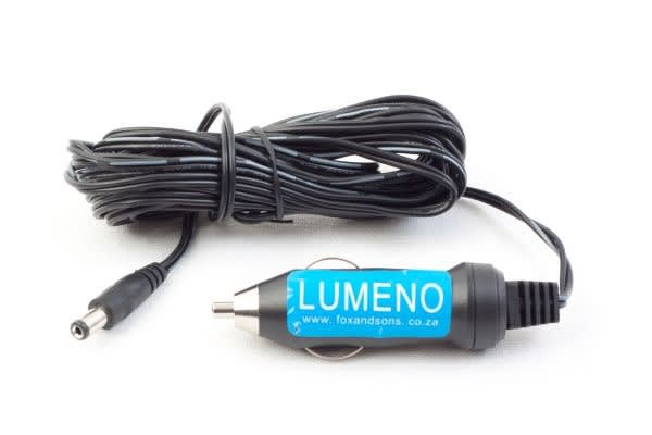 Lumeno Cigarette lighter adaptor with a 5m cable and DC male connector