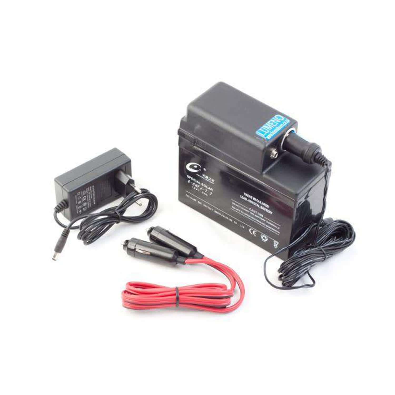Lumeno Battery Buddy 12 & 220V Charger