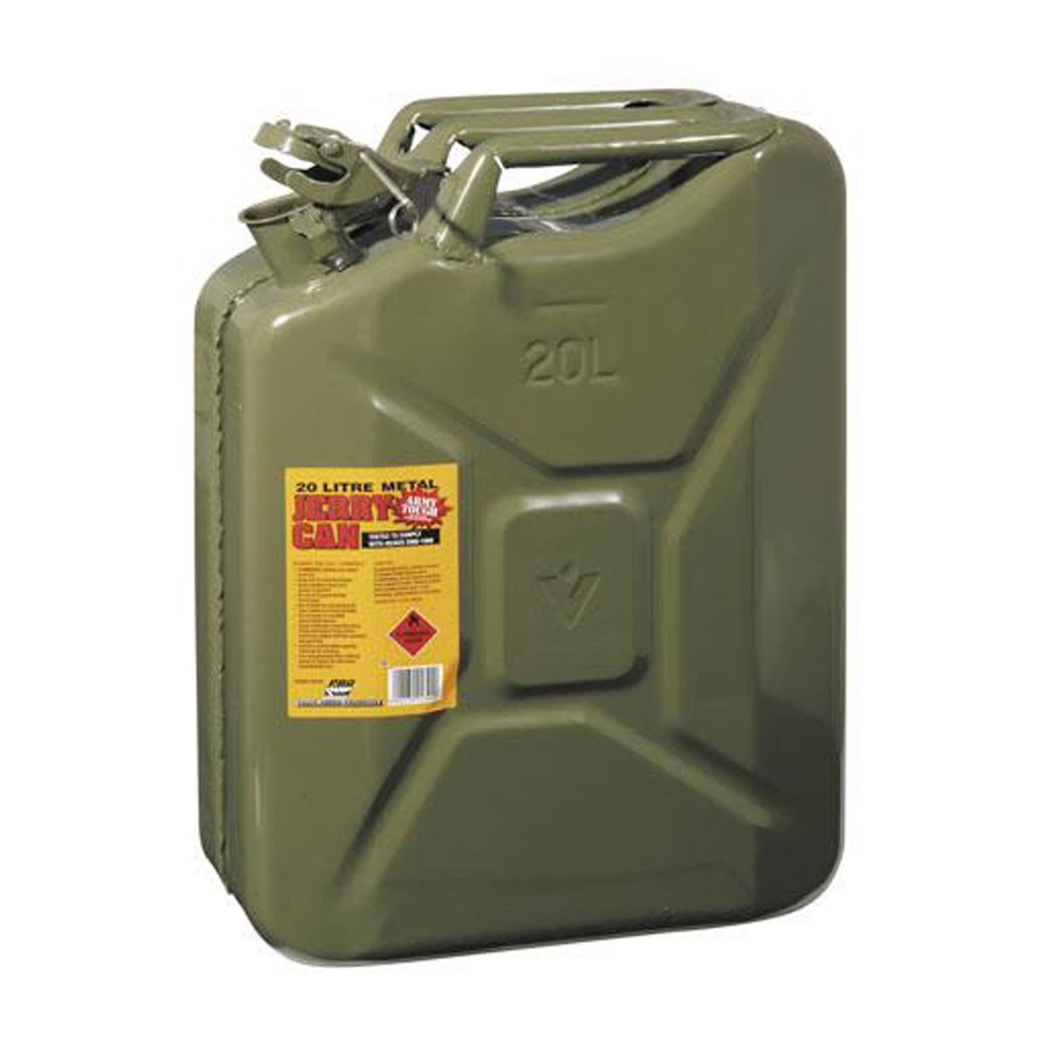 ProQuip Metal 20L Petrol Jerry Can