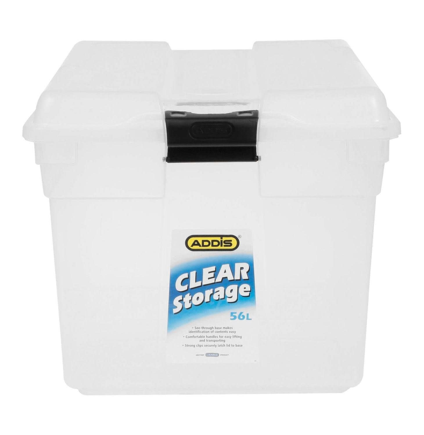 Addis Clear Storage Box (56L)