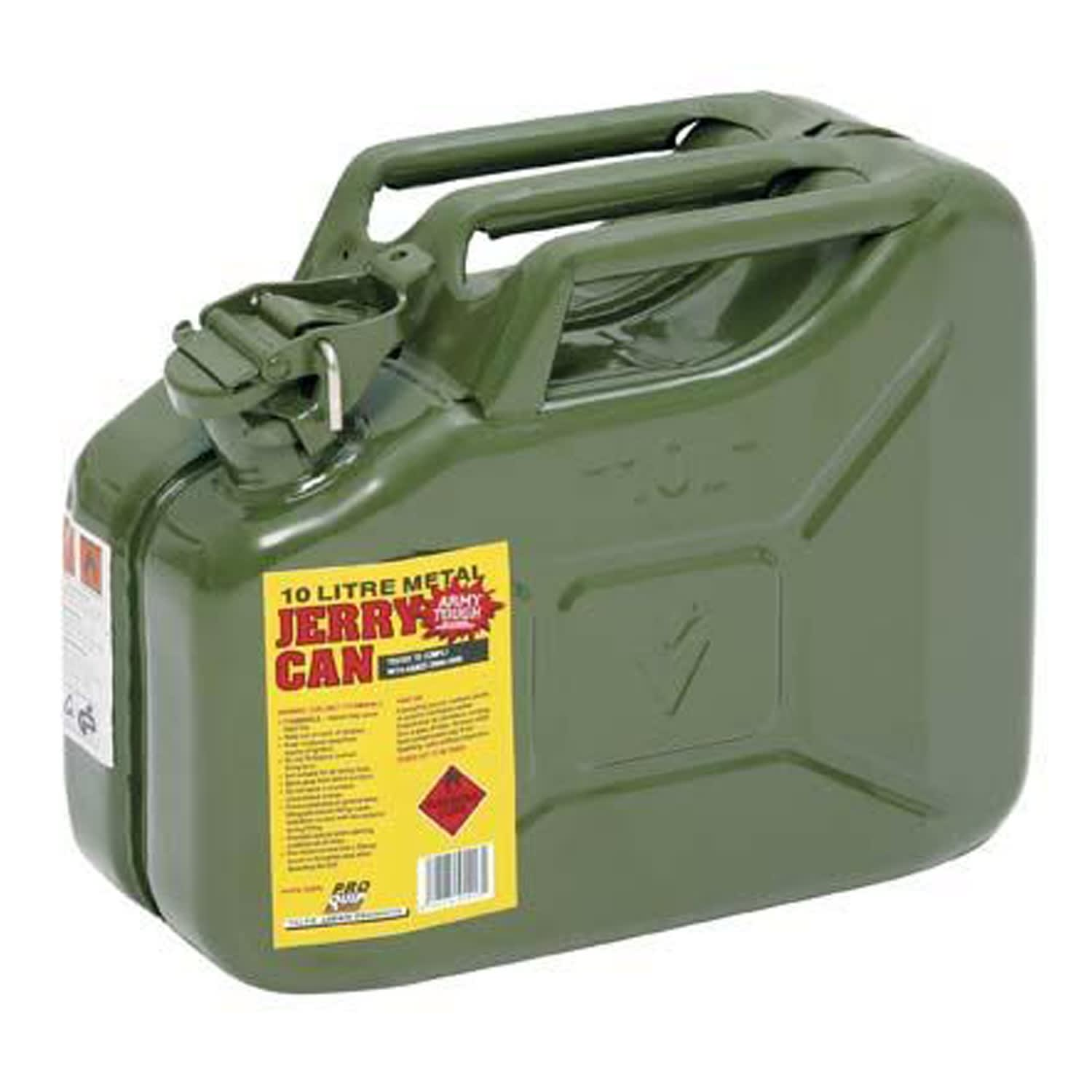 Pro Quip 10L Metal Petrol Jerry Can