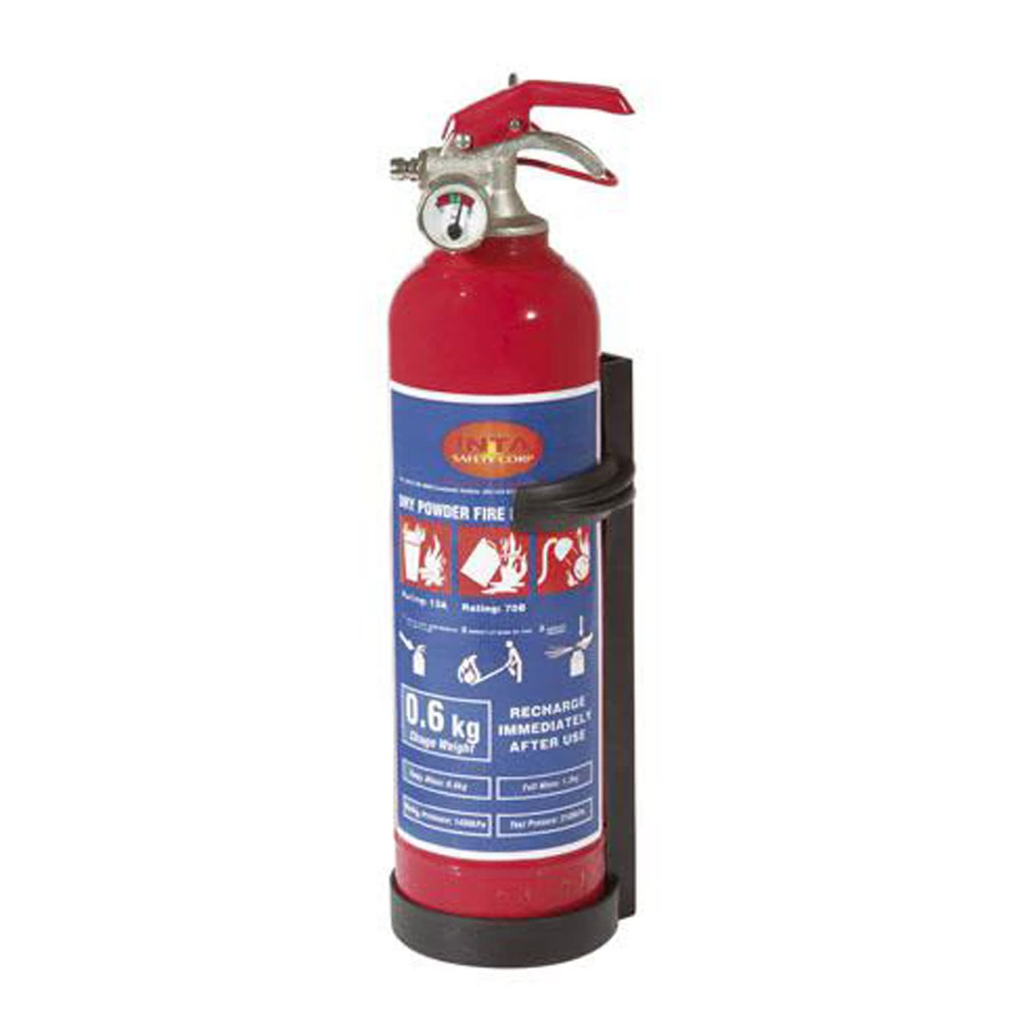 0.6Kg Fire Extinguiser with Bracket