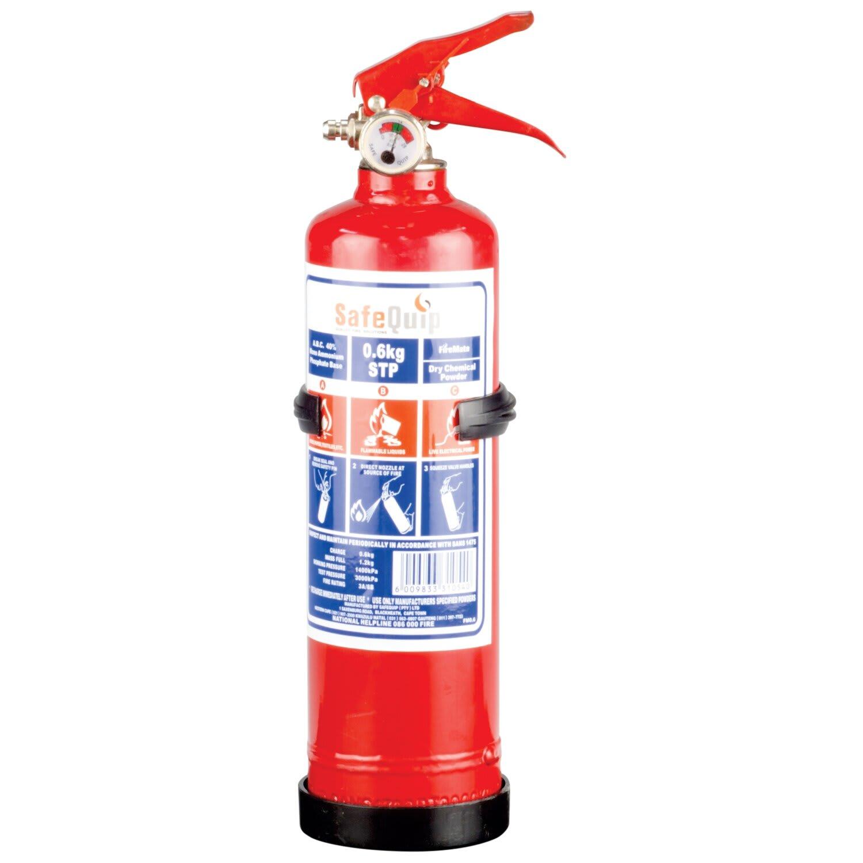 SafeQuip Fire Extinguisher 0.6Kg With Bracket