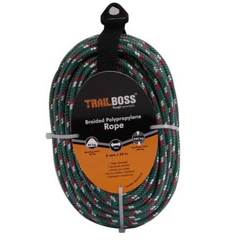 TrailBoss 8mm x 30m Braided Polypropylene Rope