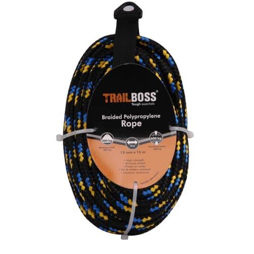 TrailBoss 12mm x 15m Braided Polypropylene Rope