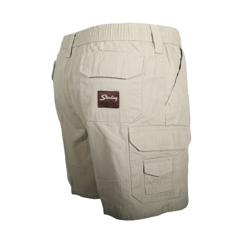 Sterling Men's Cargo Canvas 14cm Elasticated Short