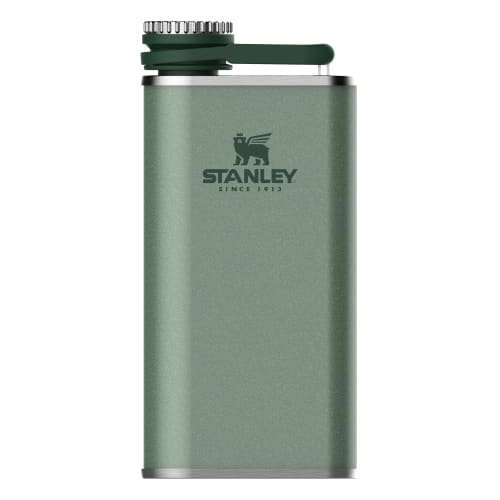 Stanley Classic Pocket Flask 8oz Easy Pour Wide Mouth Hammertone Green