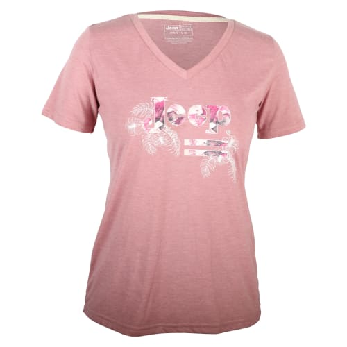 Jeep Women's Floral Logo Tee