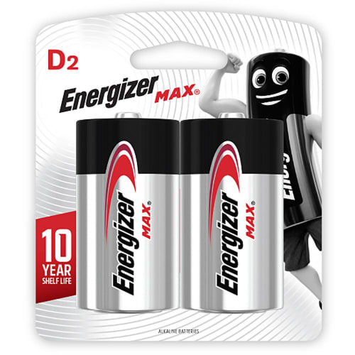 Energizer MAX Alkaline D Card 2