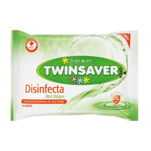 Twinsaver Disinfecta Wipes 10 Pack