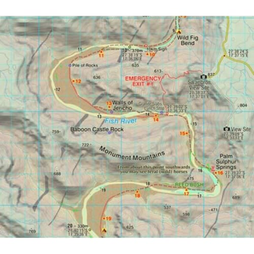 Slingsby Fish River Canyon Hiking Map