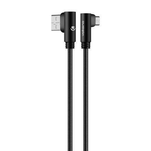 Volkano Iron Series Flexible Metal 90 Degree Micro USB Cable