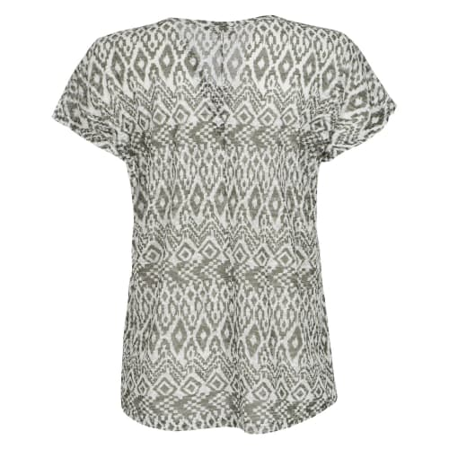 African Nature Women's CVC Burnout Tee
