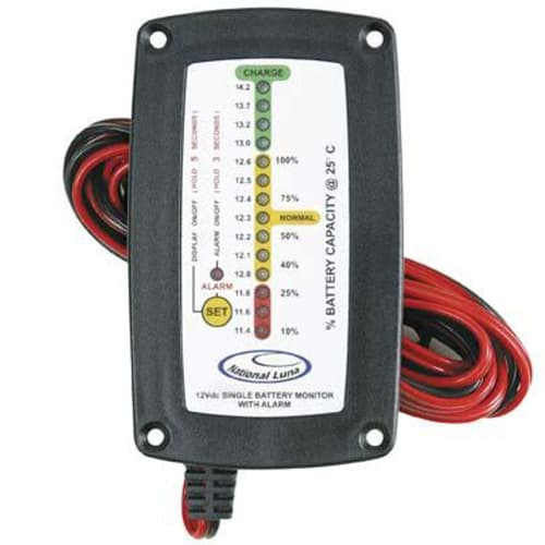 National Luna Single Recess Battery Monitor