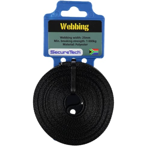 SecureTech 25mmx5m Webbing for 1Ton