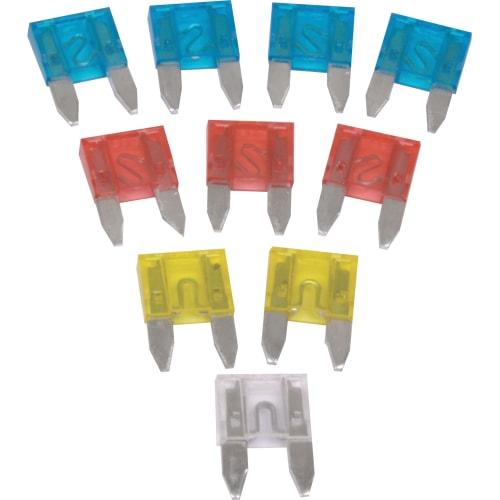 Moto-Quip Miniature Blade Fuses -  Pack of 10 Assorted