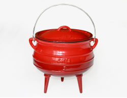 LK's Enamel Cast Iron 3 Leg Pot - No. 3