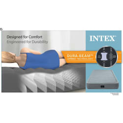 Intex Fiber Tech Double Comfort-Plush Mid Rise Airbed
