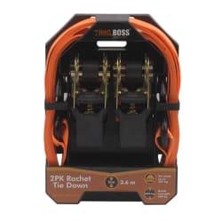 TrailBoss Ratchet 3.6m 2Pack with Rubber Handles