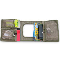 Camp Cover Gear Saddle Bag - Khaki Standard