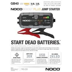 Noco Genius GB40 Boost Jump Starter
