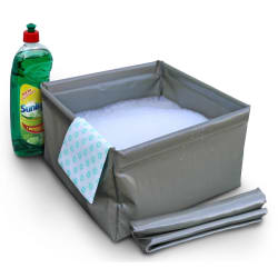 Camp Cover Fold Up 10 Litre Basin