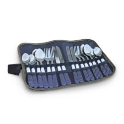 Camp Cover 16 Piece Cutlery Roll- Up Set