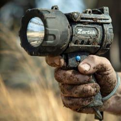 Zartek 1200 Lumen LED Rechargeable Spotlight with Red Lens
