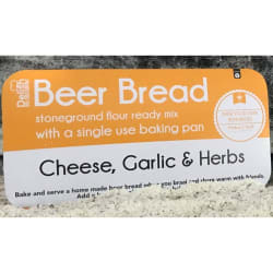Delish Beer bread cheese and single use pan