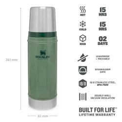 Stanley Classic Vacuum 470ml Hammertone Flask