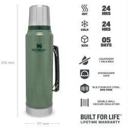 Stanley Classic Vacuum 1L Hammertone Flask