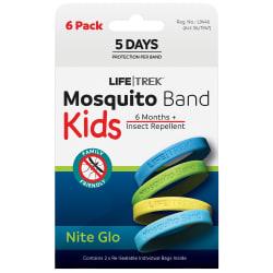 Lifetrek Mosquito Band Kids Nite Glow 6Pk