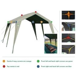 Tentco Senior Gazebo 3 Way Corner - Blue