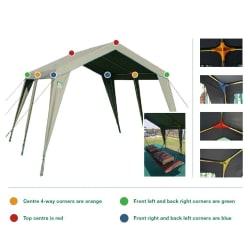 Tentco Senior Gazebo 3 Way Corner - Red