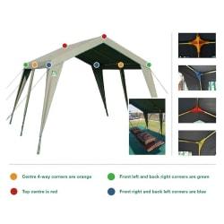 Tentco Senior Gazebo 4 Way Corner - Orange