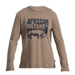 African Nature Men's Rhino Long Sleeve Tee