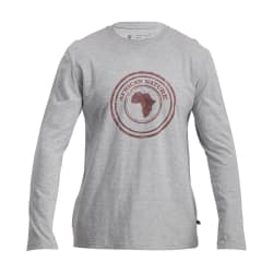 African Nature Men's Stamp Print Long Sleeve Tee