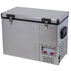 National Luna Legacy NL50 Stainless Steel Twin Fridge/Freezer