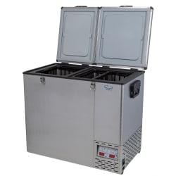 National Luna Legacy NL110 Stainless Steel Fridge/Freezer Double Door