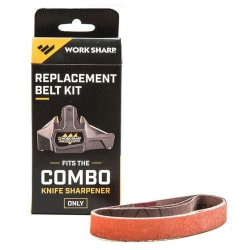 Work Sharp Combo Knife Elctric Sharpener Replacement Belt Kit 3pc
