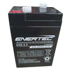 Enertec 6V4.5 Amp/hr Battery