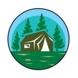 Camping Tag Large
