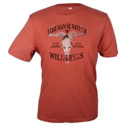 Wildebees Men's Distressed Skull Tee