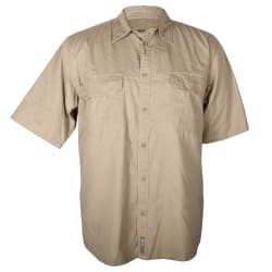 Sterling Men's Mesh Back Twill Short Sleeve Shirt