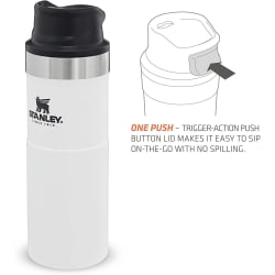 Stanley Classic Trigger Action Mug 470ml Hammertone Polar