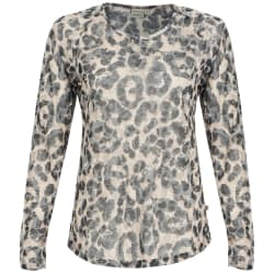 Africa Nature Women's Leopard Burnout Long sleeve Top