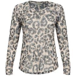 Africa Nature Women's Leopard Burnout Long sleeve Top