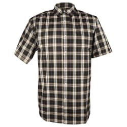 Kakiebos Men's Check Short Sleeve Shirt (3XL-4XL)
