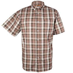 Kakiebos Men's Check Short Sleeve Shirt
