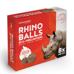 MegaMaster Rhino Balls Firelighters 8 Pack